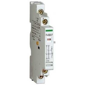 P25M - Contact auxiliar lateral comutator sau de defect - 2.2A 415V AC - 1 NO(SD) + 1 NC - 1 Pasi (9mm)