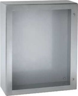 Spacial S3X - Cofret metalic Inox 304L IP66 800x600x250 mm - 1 usa transparenta - Fara placa de montaj - Scotch-Brite® polizat