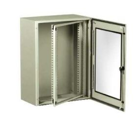 "Spacial VDM - Cofret metalic IP66 Rack 19"" 9U - sasiu Pivotant - 500x600x400 mm - 1 usa transparenta - Gri RAL 7035"
