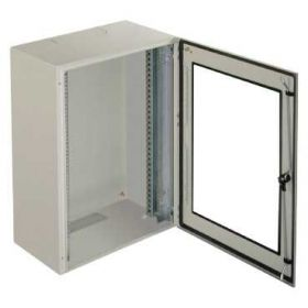 "Spacial VDM - Cofret metalic IP66 Rack 19"" 8U - sasiu Fix - 400x600x400 mm - 1 usa transparenta - Gri RAL 7035"